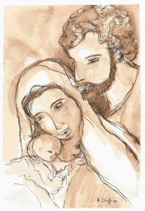 maria diufain sagrada familia