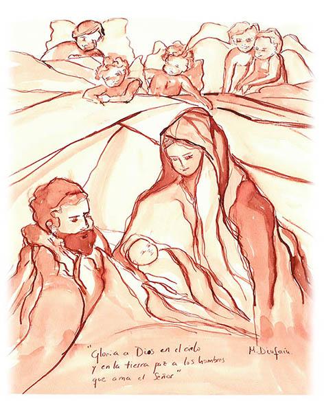 felicitacion de navidad maria diufain