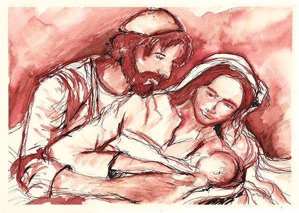 sagrada familia arte y fe maria diufain